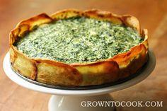 Gluten-free spinach torte