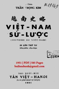 Việt Nam Sử Lược Trọn Bộ 5 Quyển (NXB Tân Việt 1951) - Trần Trọng Kim, 585 Trang   Sách Việt Nam Hanoi