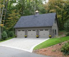 Proudly showing off one of our customer's 24' x 36' Elite 3 car garage. Customize yours to fit your needs and style.