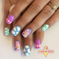 care bears nail art