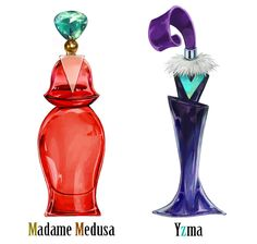 Disney Villains as perfume bottles.