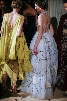 Valentino Spring 2015 Haute Couture Backstage