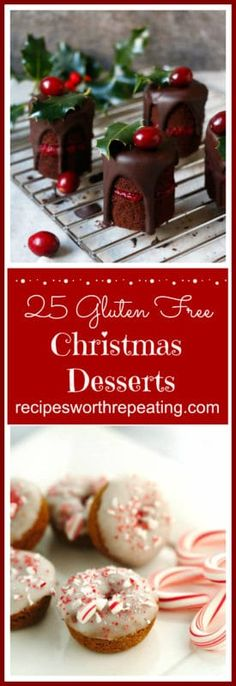 Christmas is upon us and that means all those fantastic and amazingly delicious desserts will be here soon! But why wait until Christmas day? We can enjoy these Christmas desserts now! I have put together a mouthwateringroundup featuring 25 Gluten Free Christmas Desserts that everyone is guaranteed to enjoy starting right now!