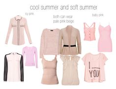 cool and soft summer pinks by expressingyourtruth on Polyvore featuring Schumacher, MANGO, Alexander McQueen, rag & bone, River Island, Soaked in Luxury, BKE, Calvin Klein and color analysis