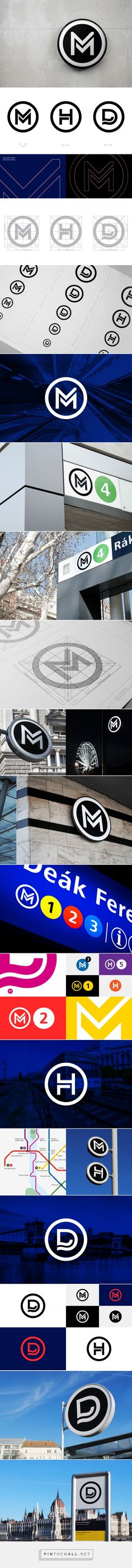 Budapest Public Transport Logos on Behance - created via http://pinthemall.net
