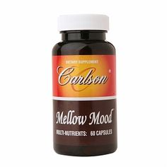 Carlson Mellow Mood is a formula with multi-nutrients to promote calmness with mental clarity.  Carlson Labs Mellow Mood can also promote a healthy mood. Mellow Mood contains B vitamins, GABA and L-Theanine Suntheanine to help promote a healthy mood. The formula is manufactured by Carlson Laboratories.