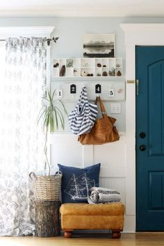 9 Calming Paint Colors- the wicker house blue living room paint color scheme Apartment Decorating On A Budget, Foyer Decorating, Decorating Ideas, Decor Ideas, Apartment Design, Interior Decorating, Diy Home Decor Bedroom For Teens, Living Room Decor, Bedroom Ideas