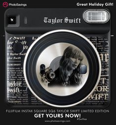 The hottest selling Gift Bundle this Make any Taylor Swift fan in your life eternally happy with this amazing limited edition Instant kit with Special Taylor Swift Film. Get this bundle exclusively from Photo Savings Taylor Swift Fan, Instant Film Camera, Fujifilm Instax, Cover Art, Kit, Amazing, Happy, Christmas, Products
