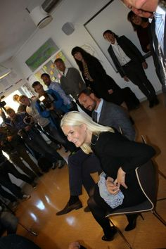 Crown Prince Haakon and Crown Princess Mette Marit attended the opening of a National Centre of Competence at Arbeidsinstituttet in Buskerud, Drammen Sept. 2014