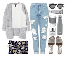 """""""Sem título #1295"""" by andreiasilva07 ❤ liked on Polyvore featuring Topshop, From St Xavier, MANGO, rag & bone, Jimmy Choo, Frēda Banana, Bloomingville, Clinique, S'well and Pantone"""