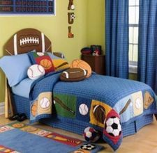Cute for a boys sports themed bedroom