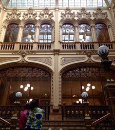 Staring at the details. Palacio de Correos de Mexico. Designed by architect Adamo Boari in 1902. #CentroHistorico #MexicoCity #CDMX #travel #architecture #design #details #bronze #wood #Moorish #VenetianGothic #ArtNoveau #SpanishRenaissance #Plateresque #Baroque