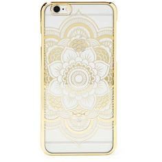 Forever21 Mandala Case For IPhone 6/6s (230 DOP) ❤ liked on Polyvore featuring accessories, tech accessories, gold and forever 21