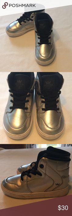 a069c98969d2 Silver Supra sz toddler 6 Super cool silver Supra toddler size 6. My son was