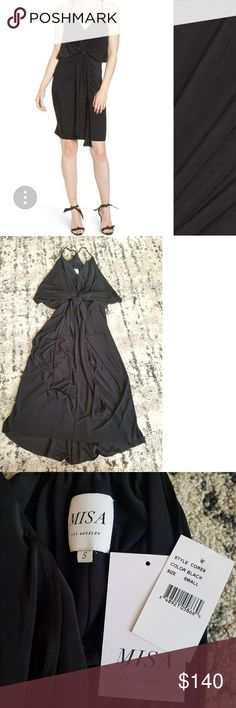 Misa Domino Midi Dress In excellent condition  Purchased from Nordstrom online Worn 1x for a Christmas party for a few hours May have some glitter body dust on it and it smells like Juicy Coture. Needs dry cleaned Misa Dresses Midi
