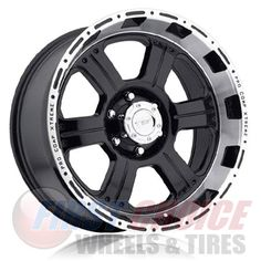 """Pro Comp 8089   Gloss Black, Gloss Black with Machined Trim   16""""-17"""" Prices: $134.49-$164.49 Pro Comp, Black Wheels, 5th Wheels, Alloy Wheel"""