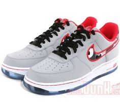 Nike Air Force 1 Low – Wolf Grey/Hyper Red