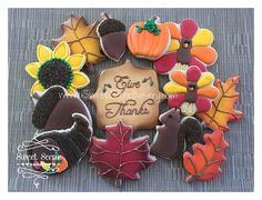 https://flic.kr/p/pff6wj | Thanksgiving cookies, Fall Cookies, Turkey cookies, Leaves, Sunflower, Acorn, Pumpkin, Squrrel