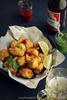 GOBHI KE PAKODE (Beer Battered Cauliflower Fritters)