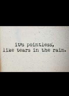 Tears in the Rain - The Weeknd