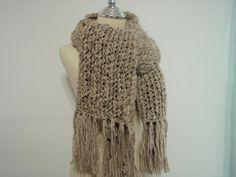 Merino wool scarf shawl.