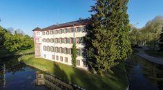 Eichtersheim Schlosspark Restaurant Luftbild http://fotovideoflug.de/luftbilder-flugaufnahmen-bruchsal-heidelberg-karlsruhe/