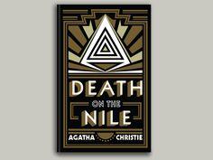 นิยายคลาสสิก Death on the nile   #book #cover #design