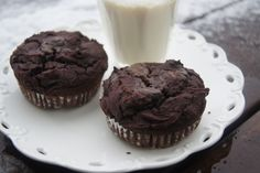 Vegan Double Chocolate Chip Muffins