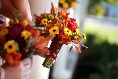 perfect fall wedding bouquet