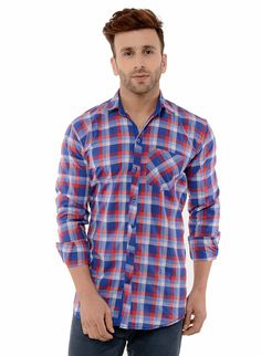 2b46d2f90da Buy Hangup Casual Blue Shirt For Men at low prices in India only on Winsant.
