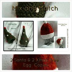 Xmas Egg Cozies