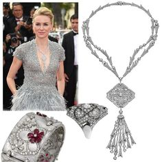 My absolute favourite outfit of Cannes Festival: Naomi Watts shimmered in a stunning Giardini Italiani collection from #Bvlgari high #jewellery - See more Red Carpet jewels in my new post. Link in the bio.