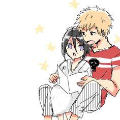 Rukia and Ichigo Bleach Ichigo And Rukia, Kuchiki Rukia, Bleach Anime, The Best Damn Thing, Bleach Fanart, Shinigami, Memes, Naruto, Strawberry
