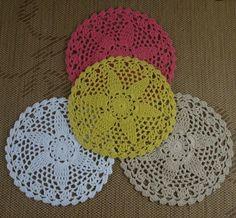 """Handmade Crochet Doilies Round Mat/Pad Home Wedding Decorative 20PCS/LOT 6""""/16CM #Handmade Crochet Doilies, Crochet Hats, Home Wedding, Crochet Earrings, Applique, Pad, Handmade, Knitting Hats, Wedding At Home"""