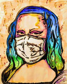 Beauté Blonde, Mona Lisa Parody, Graffiti Wall Art, Principles Of Art, Albrecht Durer, Renaissance Art, Figure Painting, Art Oil, Altered Art