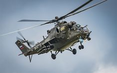 Download wallpapers Mi-24, Hind, Russian attack helicopter, Russian Air Force, military helicopters