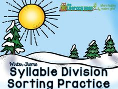 This Syllable Division Sorting Practice includes materials for reviewing and practicing beginning syllable division with VCCV, VCV, VCCCV and VV syllable patterns. It does not address practice with accented or unaccented syllables. This pack has a winter theme.If you enjoyed this freebie, please be sure to check out my word study activities.