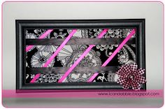 I Can Dabble: DIY - Picture Frame Bow Board