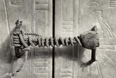 1922: Photo of Intact entry to King Tut's tomb