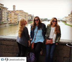 #Repost @jessicadudra Laughing on the Ponte Vecchio #ispyapi #studyabroad @stonehillabroad