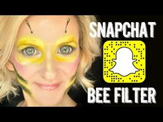 Snapchat BEE Filter Makeup Face Paint Tutorial - YouTube