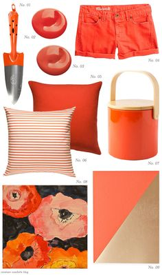 Color Crush: Coral, Poppy, and Tangerine - Home - Creature Comforts - daily inspiration, style, diy projects + freebies