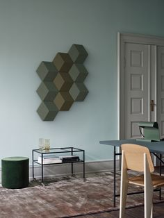 the Bang & Olufsen BeoSound Shape, a modular hexagonal speaker system