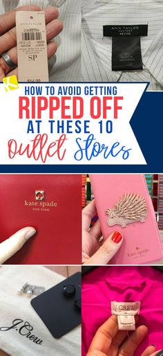 Outlet stores can make you think you're getting a deal on brand-name merchandise when you're really buying branded imitations. Here's how you can tell.