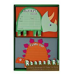 Dinosaurier Einladungs- und Dankeskarten