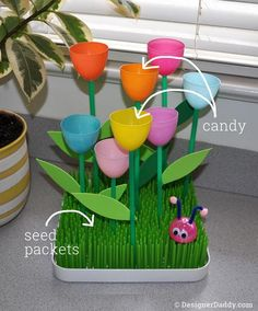 Mother's Day Crafts: Eggceptionally Easy Tulip Garden