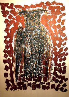 """Jean Paul Riopelle, « Hibou III », Lithographie, 30"""" x 21"""""""