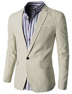 H2H Mens Fashion Slim Fit Single Button Flap Pockets Linen Blazer Jacket at  Amazon Men s Clothing store  Blazers And Sports Jackets b3807921069