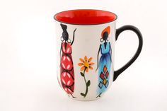 African Ladies Ceramics – Thumbprint Artifacts Snack Bowls, Spring Home Decor, Hand Painted Ceramics, Spring Colors, Fair Trade, African, Mugs, Lady, Tableware