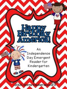 This little printable book is perfect to use with emergent readers to celebrate the 4th of July! Suggested for preschool and kindergarten emergent readers who are reading at a (B) Guided Reading level.~ (9) pages, including the cover page and two writing pages at the end.